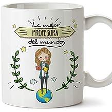 MUGFFINS Profesora Tazas Originales de café y Desayuno para Regalar a Trabajadores Profesionales - La Mejor