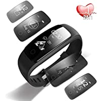 Fitness Tracker Orologio Smartwatch Android iOS Cardiofrequenzimetro da Polso Donna Uomo Impermeabile IP67 Smart Watch Braccialetto Fitness per Samsung Huawei iPhone Android iOS Smartphone