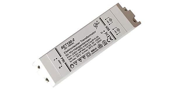 Leistungsbereich 10 bis 120Watt 120Watt Elektronischer Halogen Trafo Transformator Dimmbar f/ür Niedervolt Halogen LM