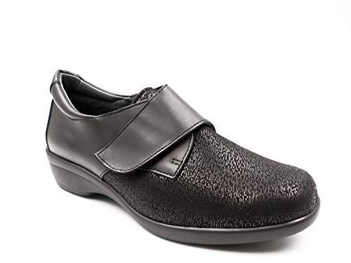 Zapatos Mujer ORTOPEDICO Linea ORTO Marca CALZAMEDI, Horma Ancho 14, Altura 3cm, Piel Elastica Color...