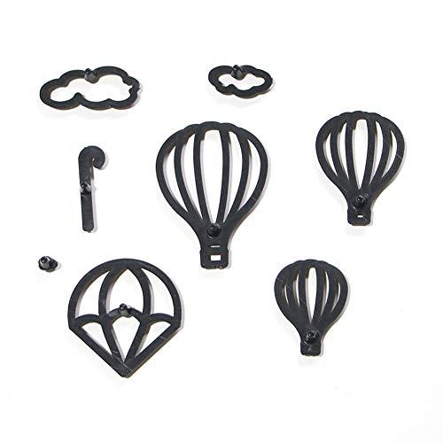 werkzeug,Formen Set Heißluftballon Form Wolke Wassertropfen Form Fondant Kuchen Pressform Keks Schneidform DIY Backform Kuchen Dekoration Werkzeug AM1450 ()