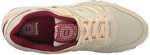 Saucony Grid SD Hommes Sneaker rouge S70217-2 Beige