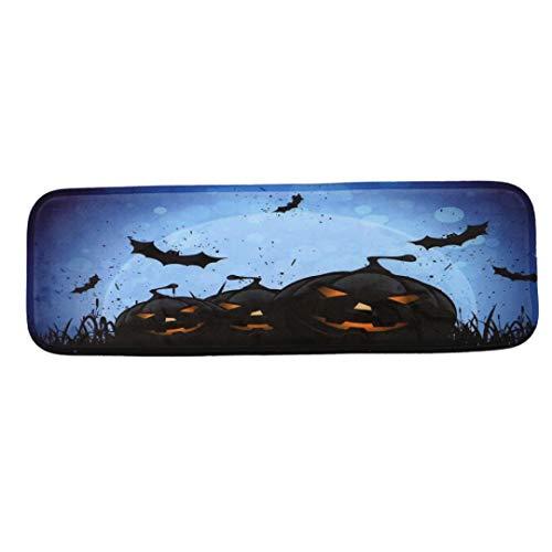 (OverDose Damen Halloween 1 Satz 3D Real Entsetzt Schritt Grundlegende Rutschfeste Korallen Fleece Beständig Teppich Stair Mat)