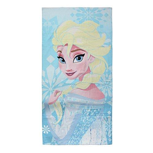 Disney La Reine des neiges 2200002799 Serviette De Plage, Bain, Piscine, Coton, Enfant, Elsa