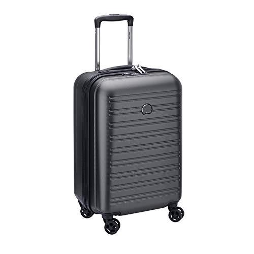 DELSEY PARIS - SEGUR 2.0 - Valise cabine rigide à double roues et serrure TSA intégrée - 55cm, 42.9L, Noir