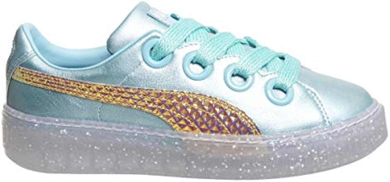Puma Platform Glitter Princess SW obuw Metallic BL 36613101 !!FR damskie Sneakers,!!FR obuw SW (Metallic Blue/Fluo Orange) aab180