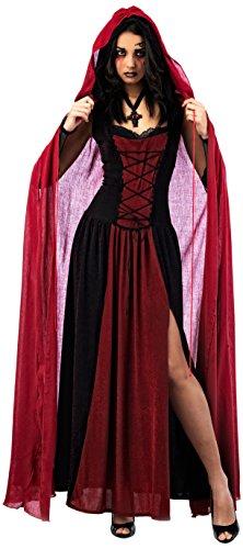 Damen Rotkäppchen Gothic Erwachsene Kostüme (Mascarada NC108 Gr. XL - Cape, Zubehör, Größe XL,)