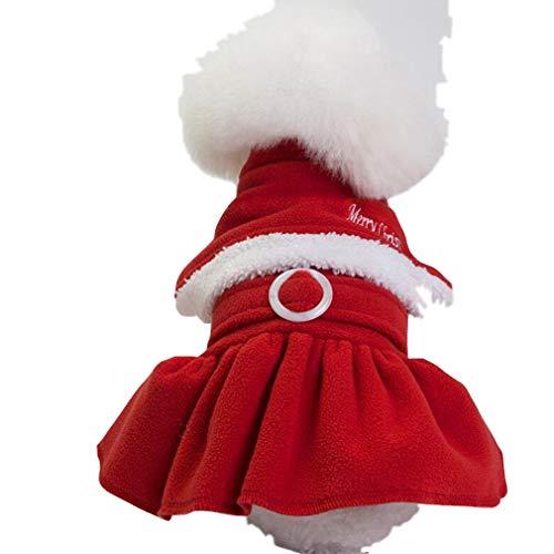 Hyhy Weihnachten Hund Kleidung Xmas Party Puppy Decoration Kostüm Winter Warm Santa Claus Outfits,Weiblich (Weibliche Santa Kostüm)