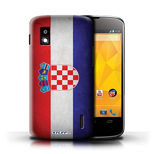 Kobalt® Imprimé Etui / Coque pour LG Nexus 4/E960 / Honduras conception / Série Drapeau Croatie