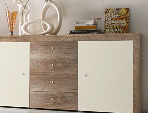 Sideboard Lamount 174x90x40cm Eiche Magnolie Design Anrichte Kommode Schubkastenschrank Schubkastenkommode Wohnzimmerschrank - 2