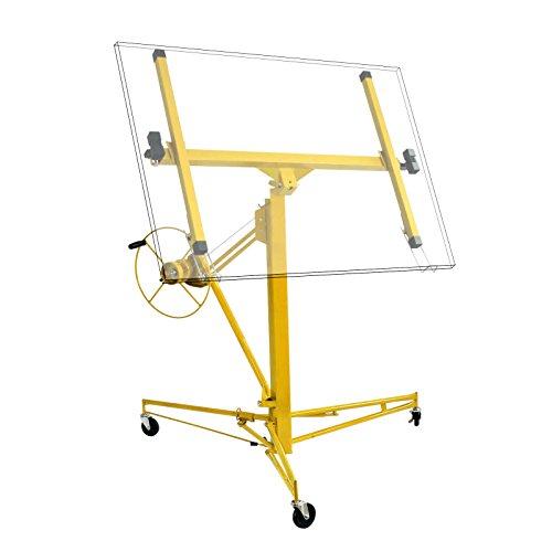 Alzalastre Professionale Sollevatore pannelli in cartongesso metallo MDF legno XXL Max. 68kg giallo