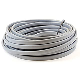 2.5 mm Twin and Earth 6242Y Flat Grey Electric Cable - 5 metre Cut Length