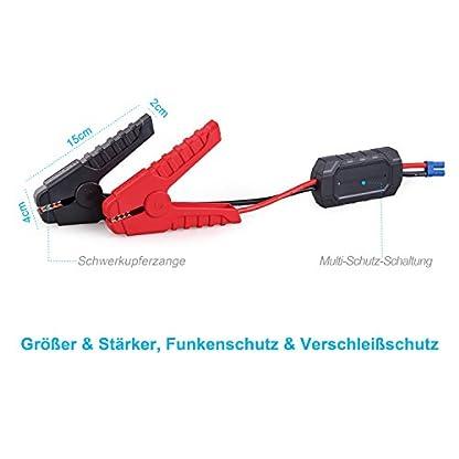 41qczp%2B2DCL. SS416  - RoyPow IP66 Arrancador de Coche (Motores Gasolina 8.0L o Diesel 5.0L) Arrancador de baterías Batería automática Power Booster Banco de energía 120W 12V DC Power Pack