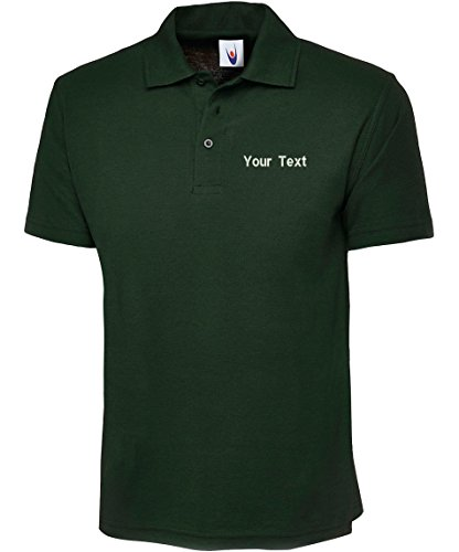 swagwear Embroidered Your Text Logo Personalised Unisex Classic Polo 17 Colours (XS-6XL) 101 by