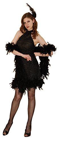 Reír Y Confeti - Fibfla008 - Para adultos traje - Traje Charleston Negro Luxe - Mujer - Talla M