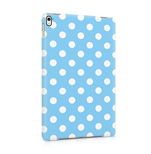 Baby Blue Polka Dots Pattern Dünne Rückschale aus Hartplastik für iPad Pro 9.7 Tablet Hülle Schutzhülle Slim Fit Case Cover Dots Cover Case Snap
