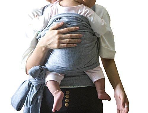 UNIQUE HM&LN Baby Carrier, Baby Wrap Carrier (light grey) 41qd W3cm5L