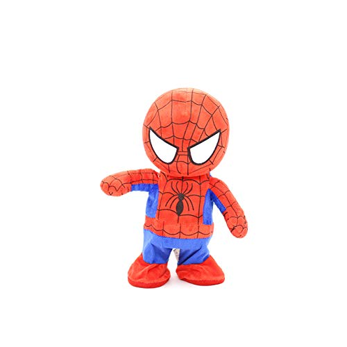 FLAWISH 11 Inches Electric Spider Man Super Heros Singing and Walking Soft Toy for Children