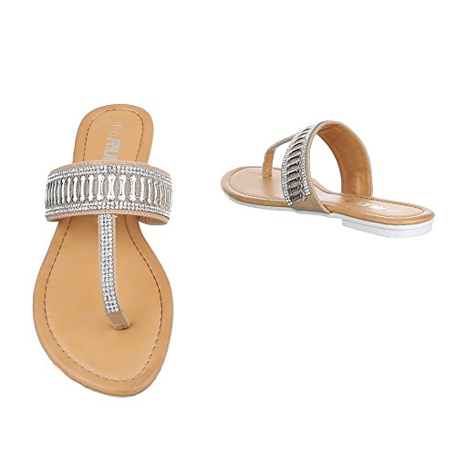 Italdesign Beige Toes Chaussures Femme Pour Peep ar01qa