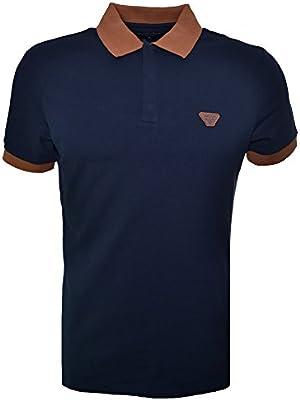 Armani Jeans Men's Navy Blue Polo Shirt