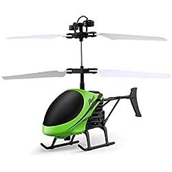 wildlead D715Mini Helicóptero Inducción Avión mando a distancia RC Drone con flash luz, Stil 3