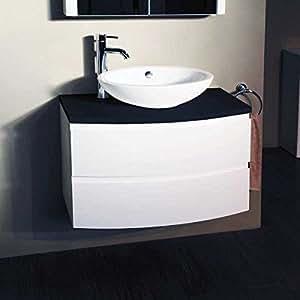 800 waschkommode mit waschbecken wasserfallwasserhahn f r. Black Bedroom Furniture Sets. Home Design Ideas