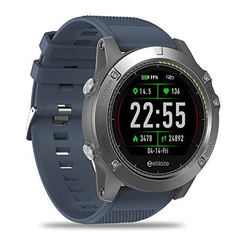 CITW Intelligente Uhr IP67 Wasserdichtes Tragbares Gerät Herzfrequenz-Detektor IPS-Farbdisplay Sport Smart Watch Kompatibles System Android 4.4 / Ios 8.0,Blue