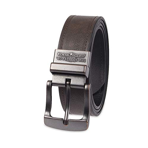 Levi's - Reversible washed cotton belt for men - black - one size fits all