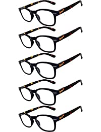 Readers 5 Pack Of Elegant Womens Mens Reading Glasses With Beautiful Patterns For Ladies And Gentlemens Deluxe... - B073WHZ1Q8