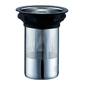 Bodum 01-1869-01-612 Component Filtre en Inox + Joint en Silicone pour Théières 1802/1804/1866 1,5 L Noir