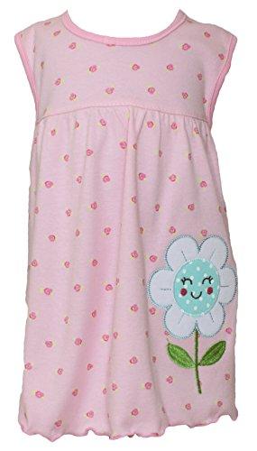 Sommer SALE! Sommerkleid | Shirt-Kleid Pincess Taufkleid Modell 19 rosa gemustert mit Blume