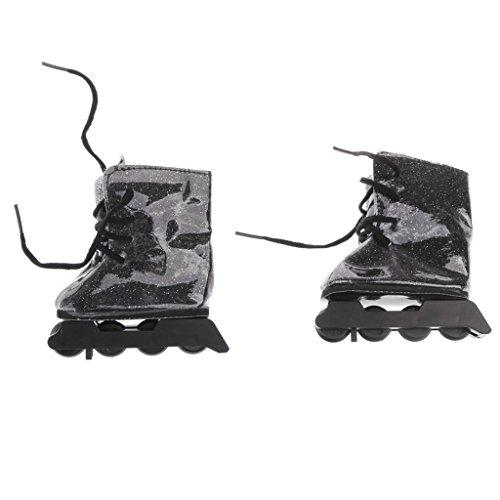 Gazechimp Mode Puppenschuhe - Mini Rollschuhe mit Schnürsenkel - Outfit für 18 Zoll Puppen Bekleidung Zubehör