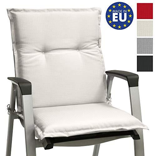 Beautissu cojín para sillas de Exterior, tumbonas, mecedoras o Asientos con Respaldo bajo Base NL 100x50x6...