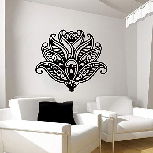 zxddzl Lotus Blume Wandaufkleber Yoga Kunst Muster Wandtattoo Yoga Wandkunst Wandhaupt Lotus Blumen Dekoration Poster AY744-54x63cm - Board Im Buchstaben Freien