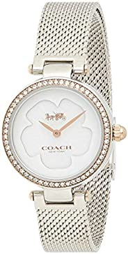 Coach Women's White Mother Of Pearl Dial Two Tone Stainless Steel Watch - 14503510, Si