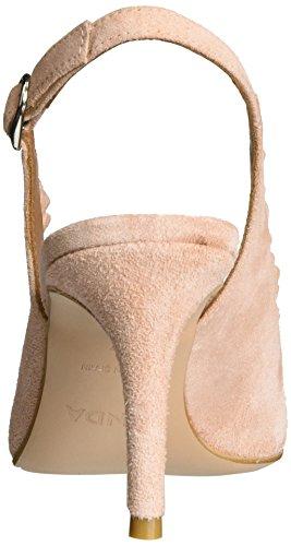 Zinda Damen 2719 Peeptoe Pumps Pink (Nude)