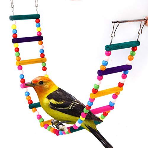 JGHH Vogelkäfig Dekoration Parrot Klettern Leiter Holzschaukel Vogelkäfig Hängen Spielzeug Klettern Leiter für Vögel