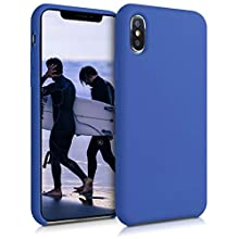 kwmobile TPU Silicone Case Compatible with Apple iPhone XS Max - Soft Flexible Rubber Protective Cover - Cornflower Blue