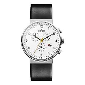Braun Men's Quartz Chronograph Watch with Leather Strap