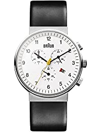 Braun Herren-Armbanduhr XL BN0035WHBKG Chronograph Leder
