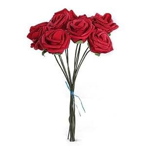 SODIAL (R) Fiore artificiale rosso Decorazione in Schiuma per la sposa