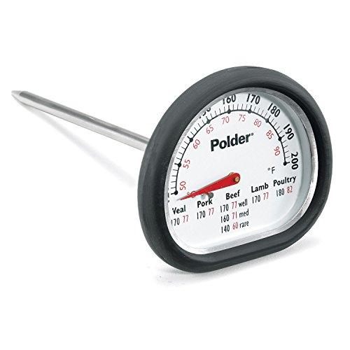 Polder Deluxe in-Oven Thermometer, schwarz -