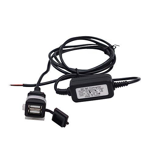 TurnRaise Alimentazione 12V-24V 3.1A porta di Alimentazione USB Caricabatteria Presa per Moto miglior prezzo