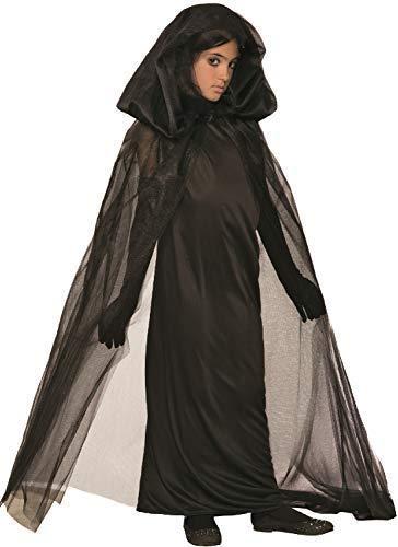 Fancy Me Mädchen Gothik Dunkel Witwe Hexe Zauberin Halloween Horror Gruselig Kostüm Kleid Outfit - Multi, 10-12 ()
