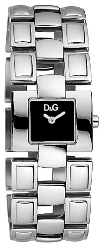 D&G Ladies Quotes Quartz Watch DW0474 With Black Square Analogue Dial And Bracelet