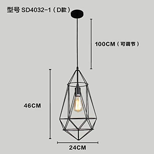 Pendelleuchte Geometrische Schmiedeeisen Country Cafe Tisch Pendelleuchte Loft Bar Kleine Lampe, D -