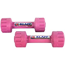 Klapp (1 Kg to 5 Kg) Unisex Pvc Dumbbells,Pack of Two,Colour May Vary (4 Kg Each, Pack Of Two)