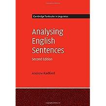 Analysing English Sentences (Cambridge Textbooks in Linguistics) by Andrew Radford (2016-10-03)