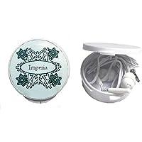 Auriculares in-ear en una caja personalizada con Imperia (nombre de pila/apellido