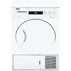 Beko DPU 7404 XE Wärmepumpentrockner / A+ / 266 kWh/Jahr / 7 kg / Weiß / Trommelinnenbeleuchtung / Knitterschutz / Super Express - Programm / Automatischer Knitterschutz / Reversierende Trommelbewegungen / FlexySense Sensortechnologie